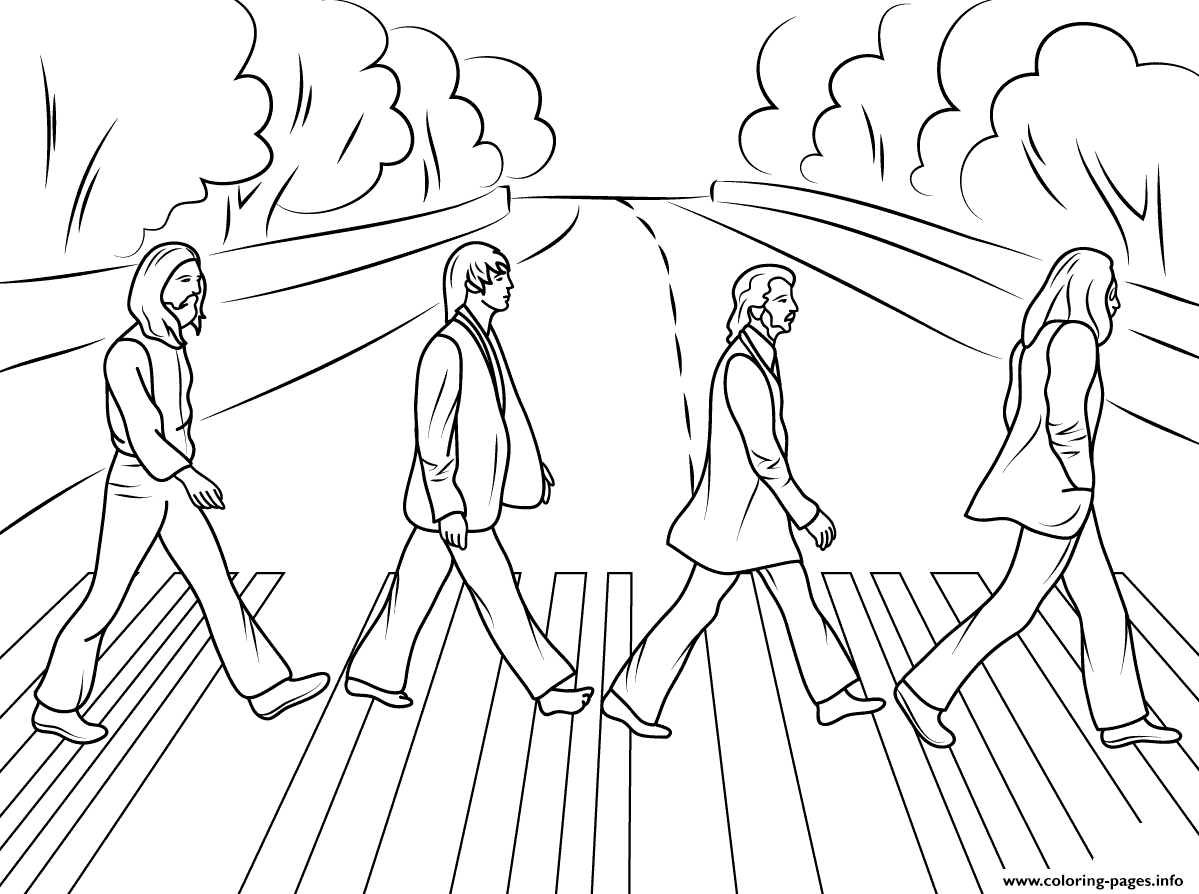 The Beatles Abbey Road Celebritys Coloring Pages Printable