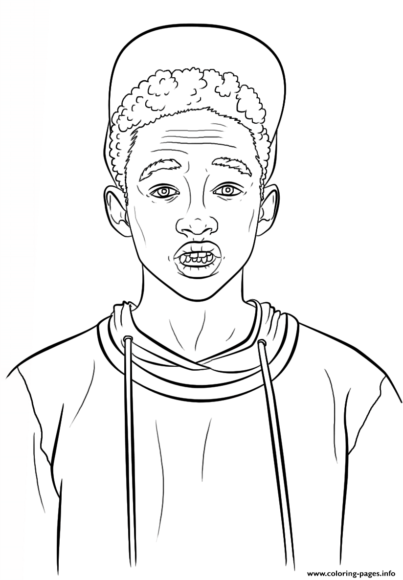 Jaden Smith Celebrity Coloring Pages Printable