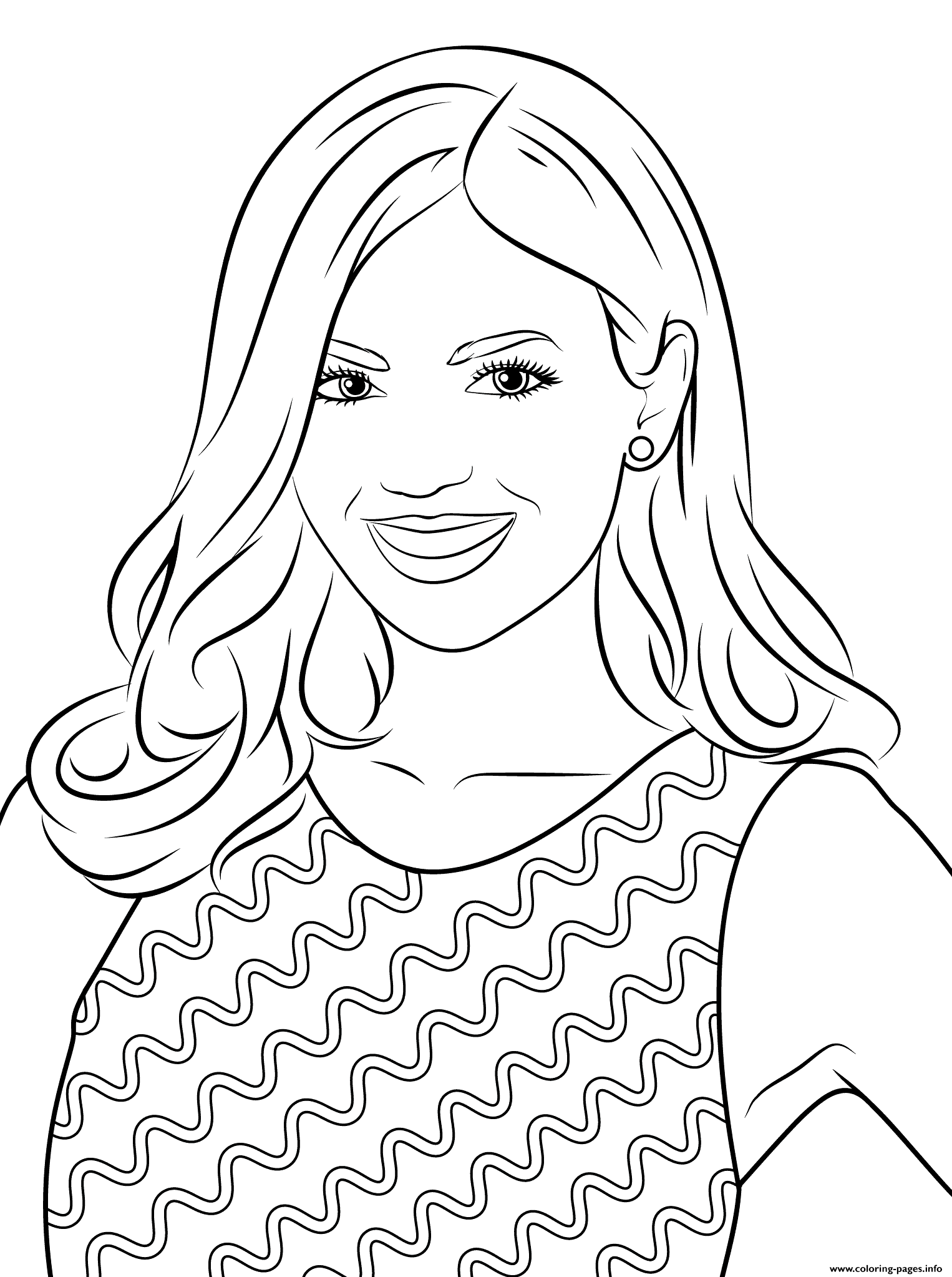 Victoria Justice Celebrity Coloring Pages Printable