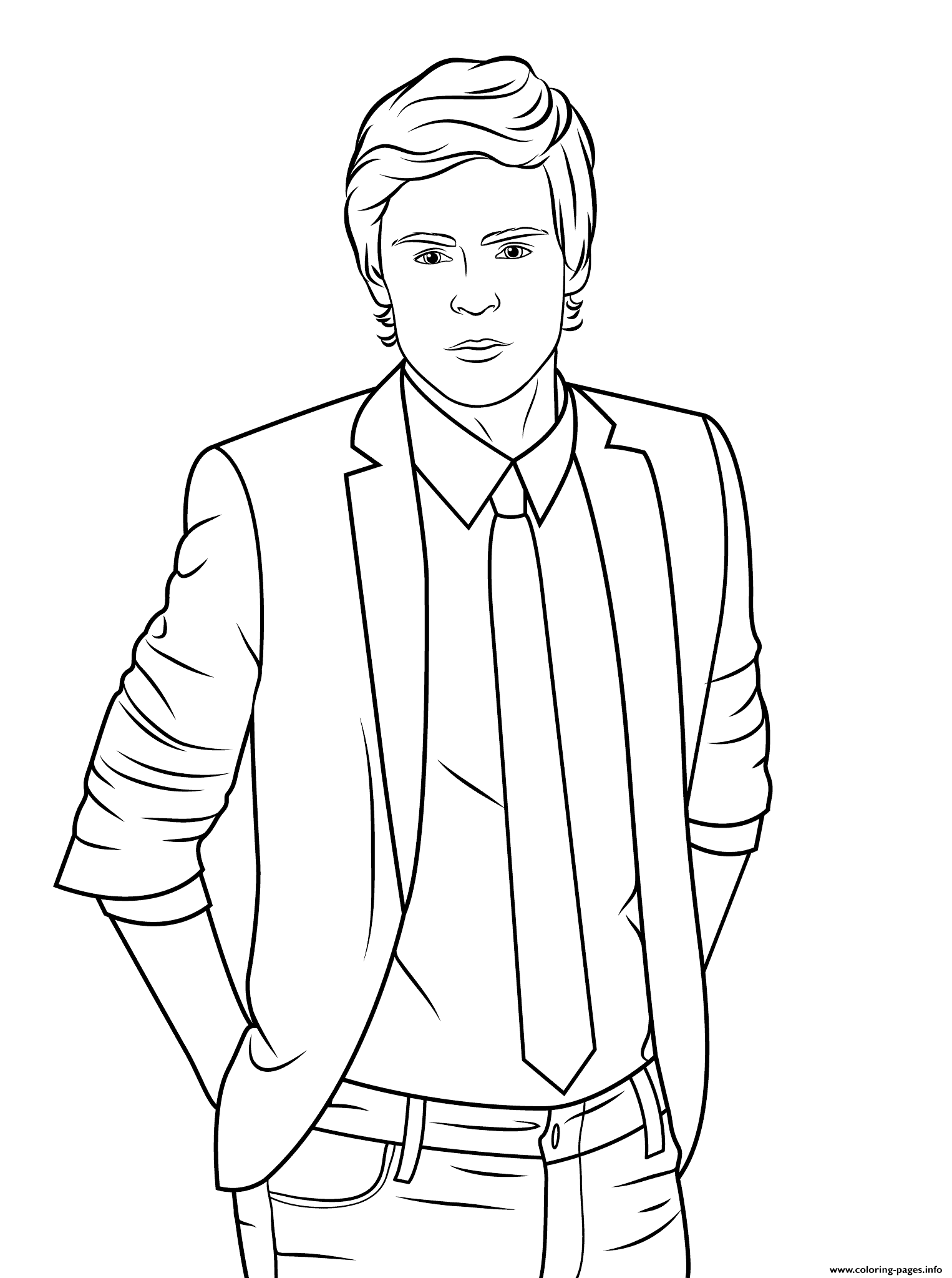 Zac Efron Celebrity Coloring Pages Printable