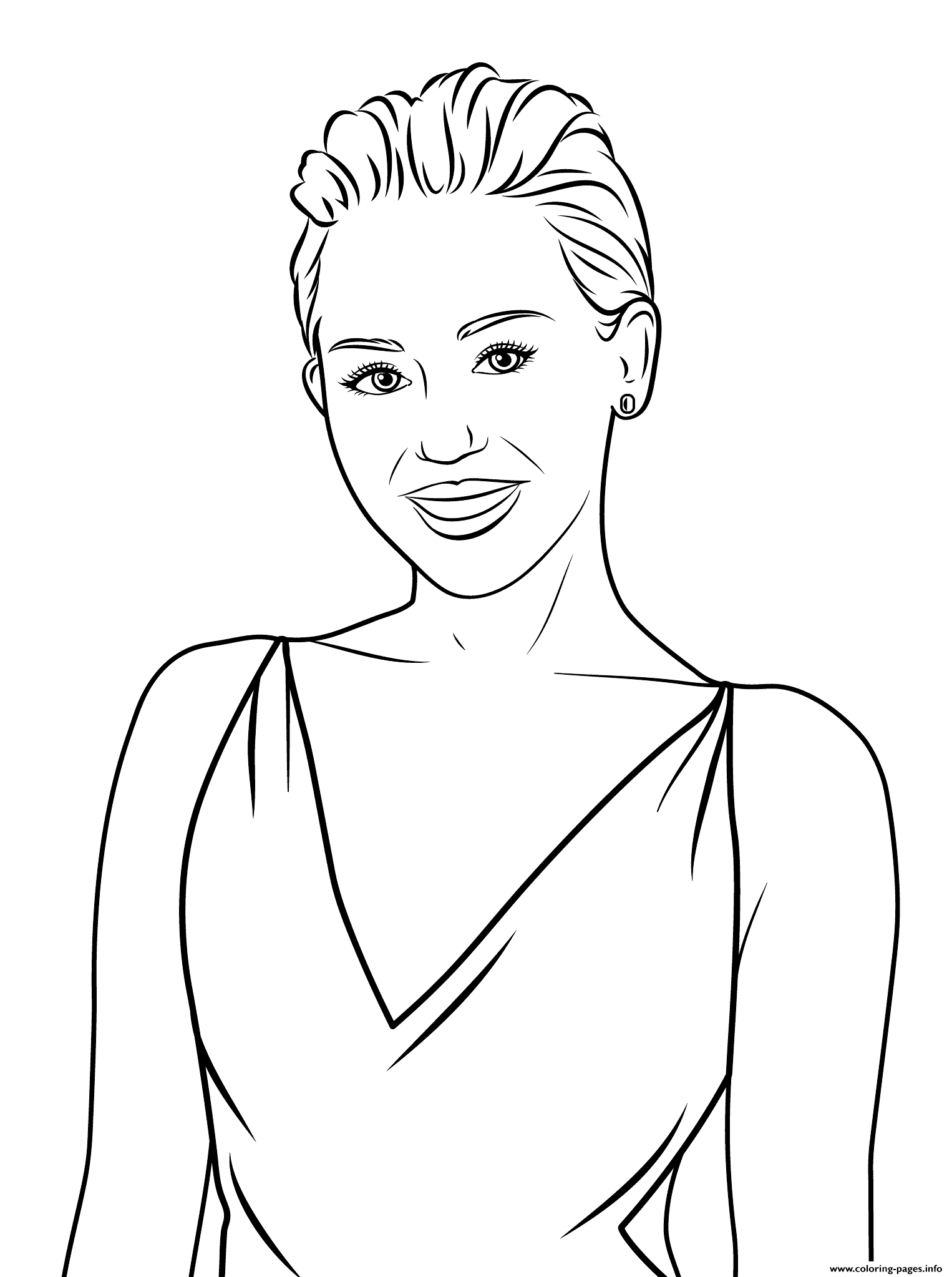 Miley Cyrus Celebrity Coloring Pages Printable
