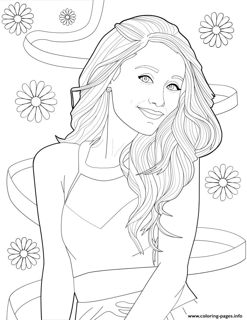 Ariana Grande Coloring Pages Printable