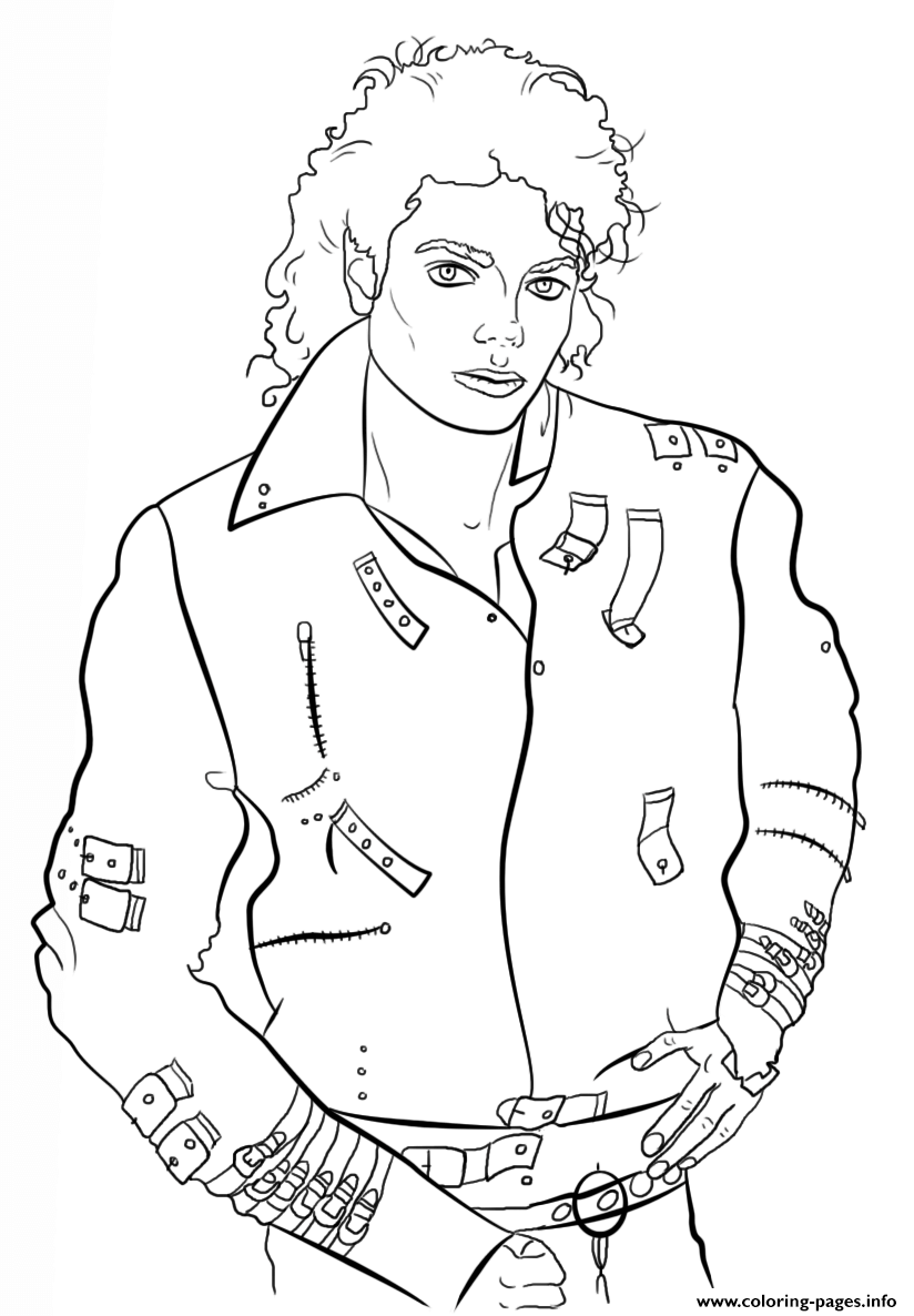 Michael jackson celebrity coloring pages printable
