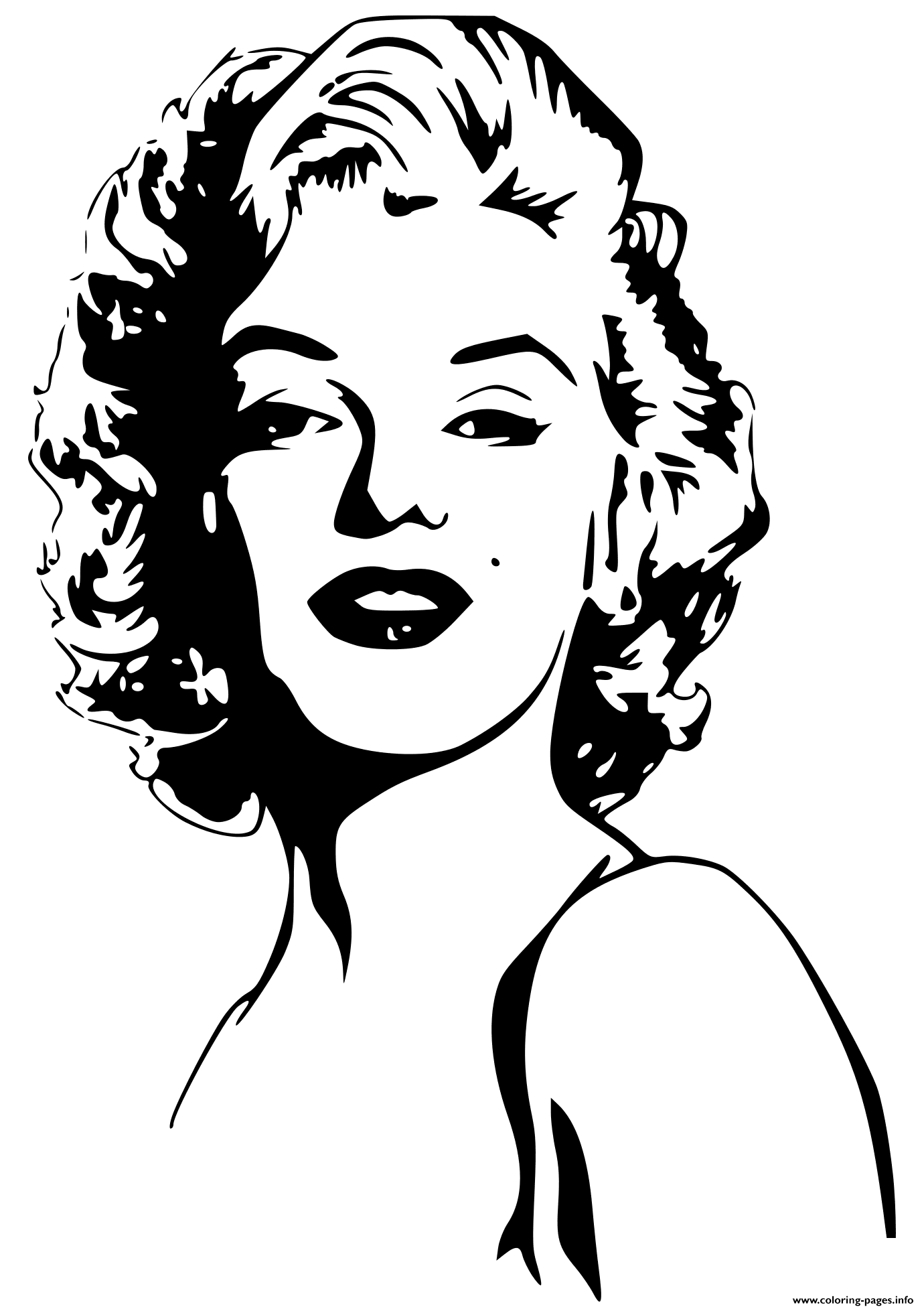marilyn monroe celebrity coloring pages - Celebrity Coloring Pages