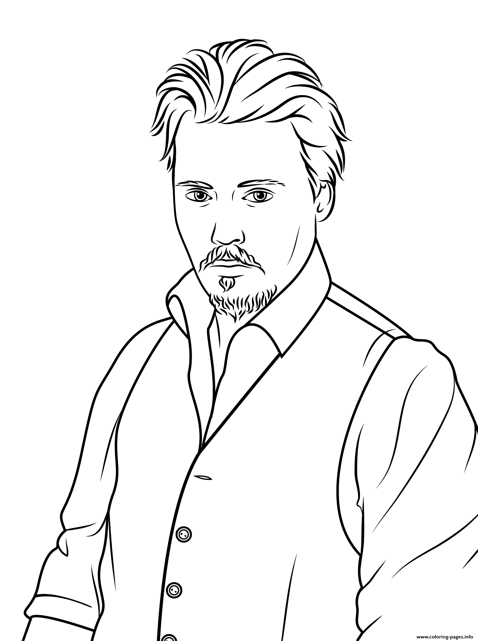 johnny depp celebrity coloring pages print download 38 prints - Celebrity Coloring Pages Print