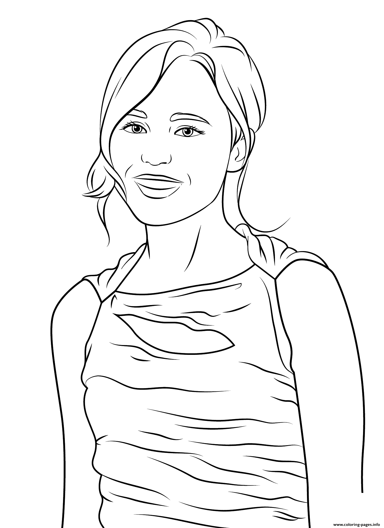ellen page celebrity coloring pages - Celebrity Coloring Pages