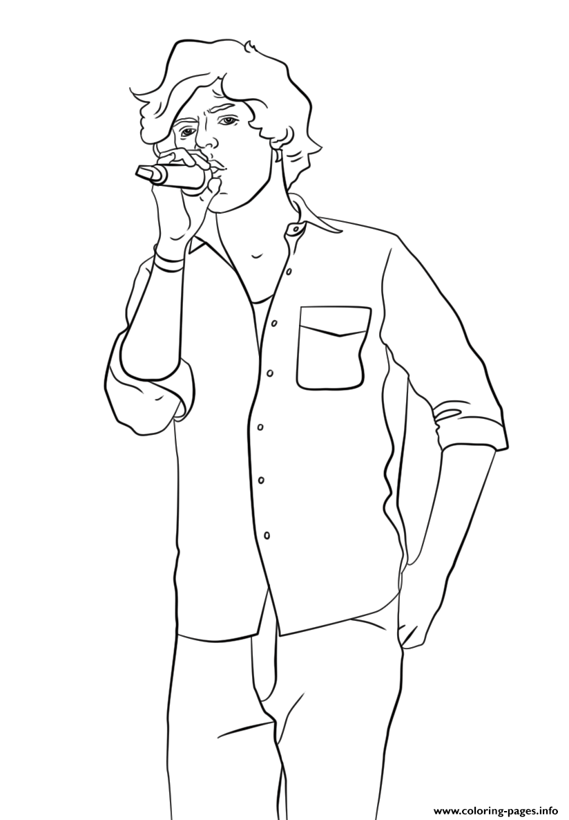 Harry Styles Celebrity Coloring Pages Printable