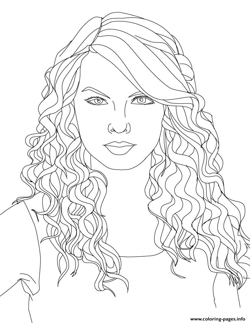 This is a picture of Unforgettable Taylor Swift Coloring Page