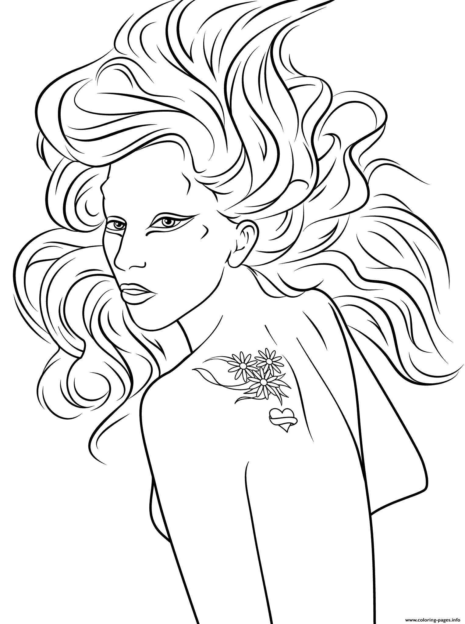 lady gaga celebrity coloring pages print download 37 prints - Celebrity Coloring Pages Print