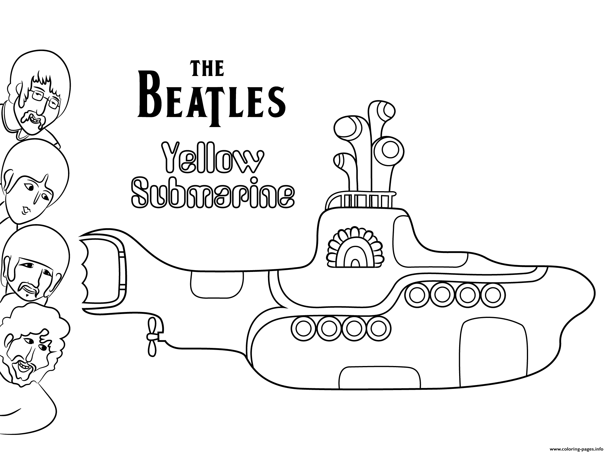 The Beatles Yellow Submarine Celebritys Coloring Pages Printable