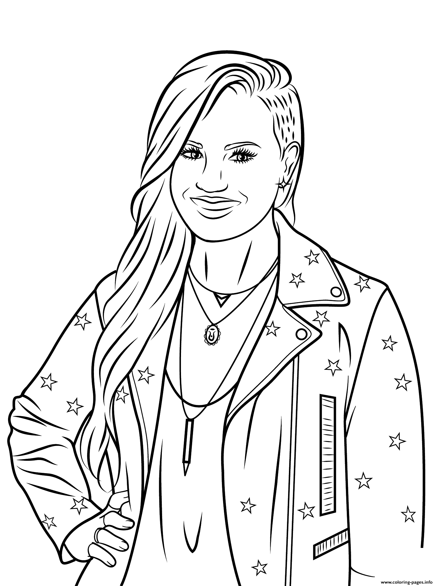 demi lovato celebrity coloring pages - Celebrity Coloring Pages