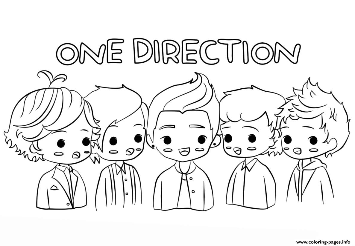 One Direction Celebrity Coloring Pages Printable