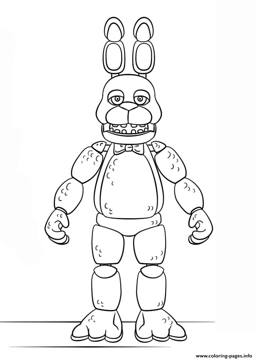 Fnaf Toy Bonnie Generation 5 Coloring Pages Printable
