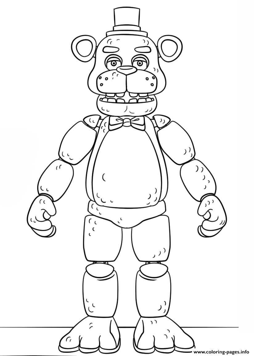fnaf toy golden freddy generation 5 coloring pages printable