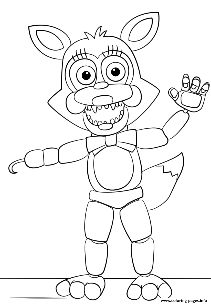 Mangle From Five Nights At Freddys coloring pages