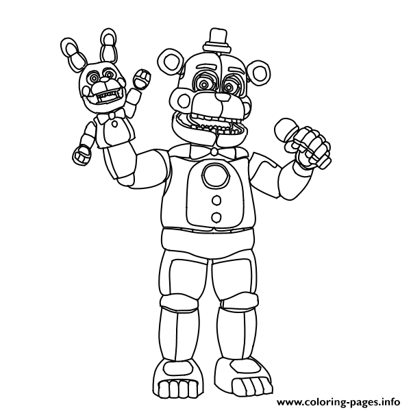 Coloring Pages : Astonishing 5 Nights At Freddys Coloring Pages ... | 600x600