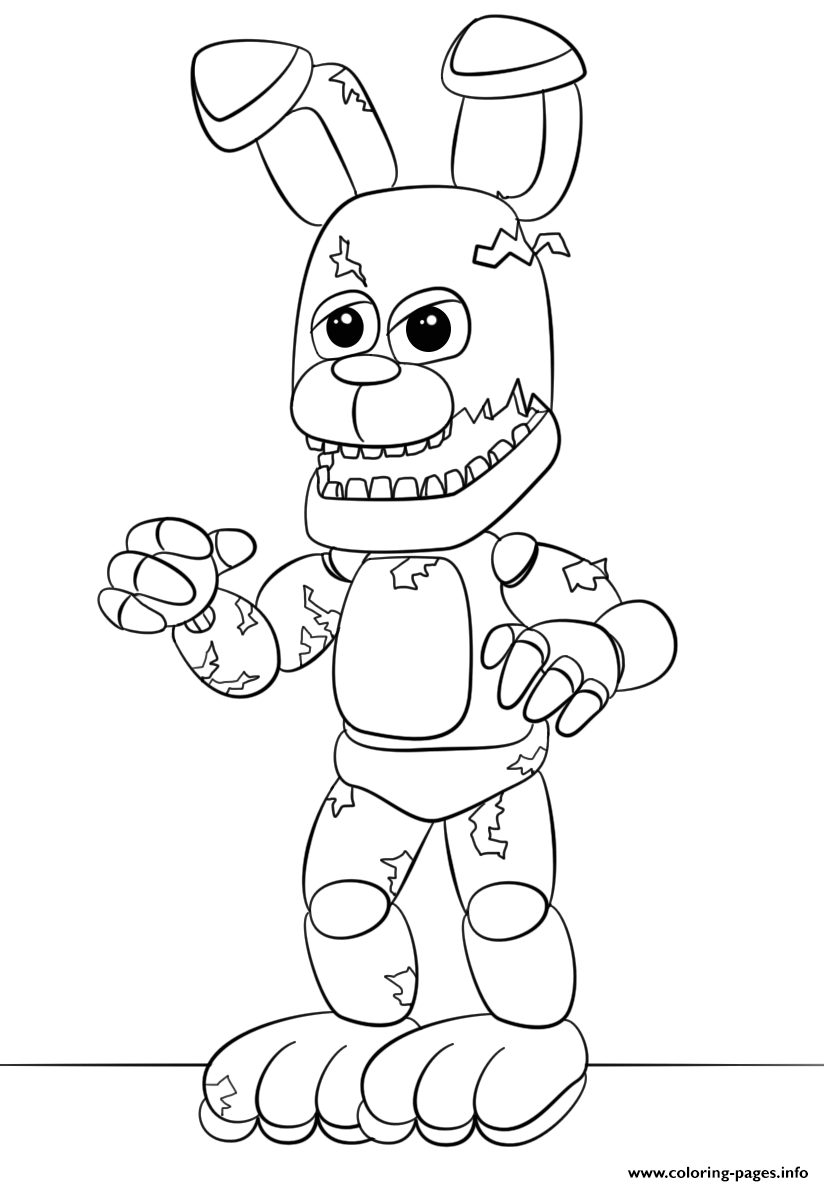 Fnaf Springtrap coloring pages