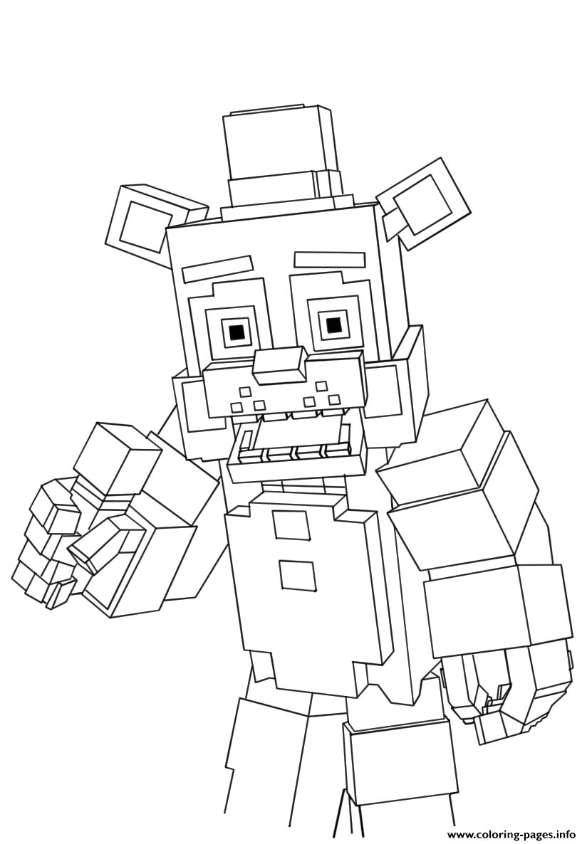Minecraft Freddy Fnaf Coloring