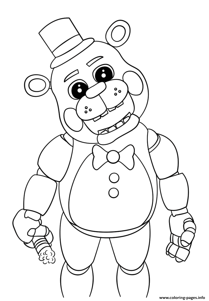 Cute Five Nights At Freddys 2018 Coloring Pages Printable