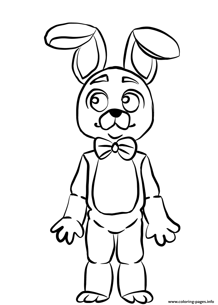 www coloring pages info - fnaf bonnie coloring pages printable