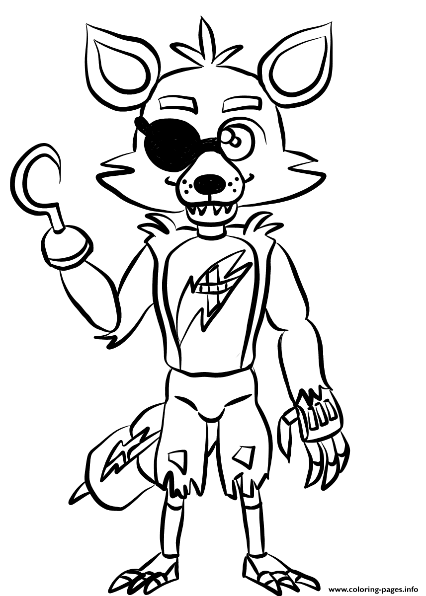 Foxy Fnaf Freddys coloring pages