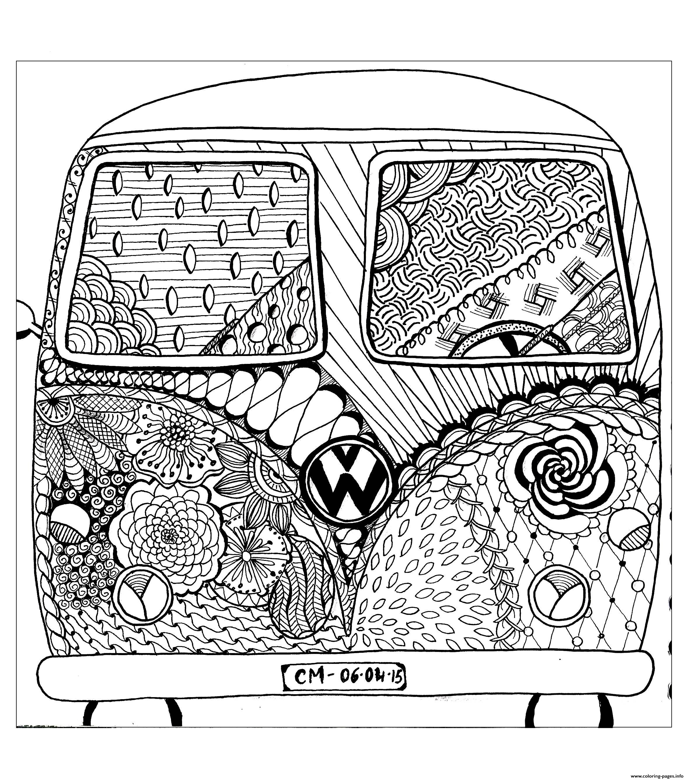 Adult Zentangle By Cathym 8 coloring pages