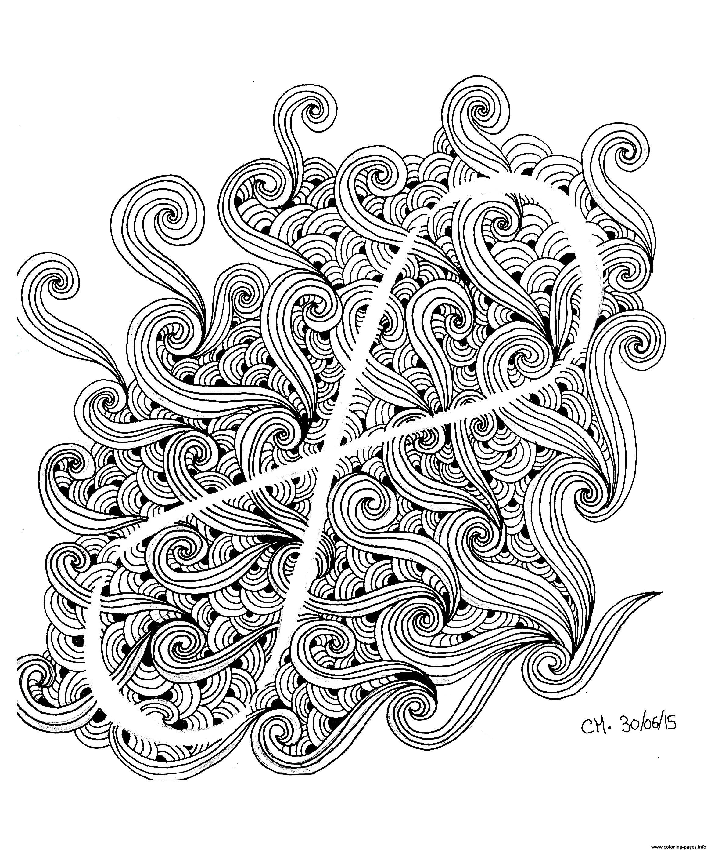 Adult Zentangle By Cathym 12 coloring pages