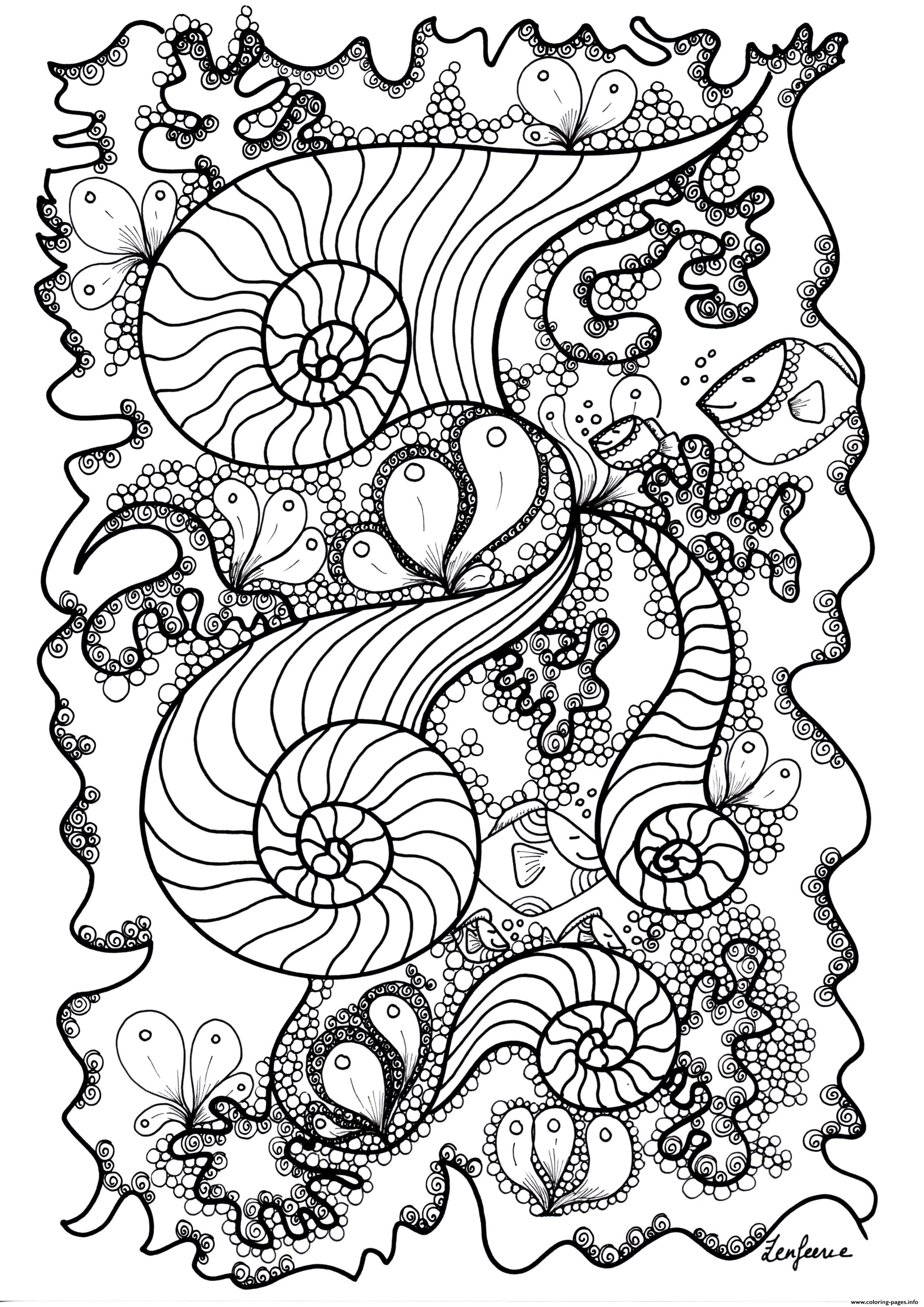 Adult Poisson By Zenfeerie coloring pages