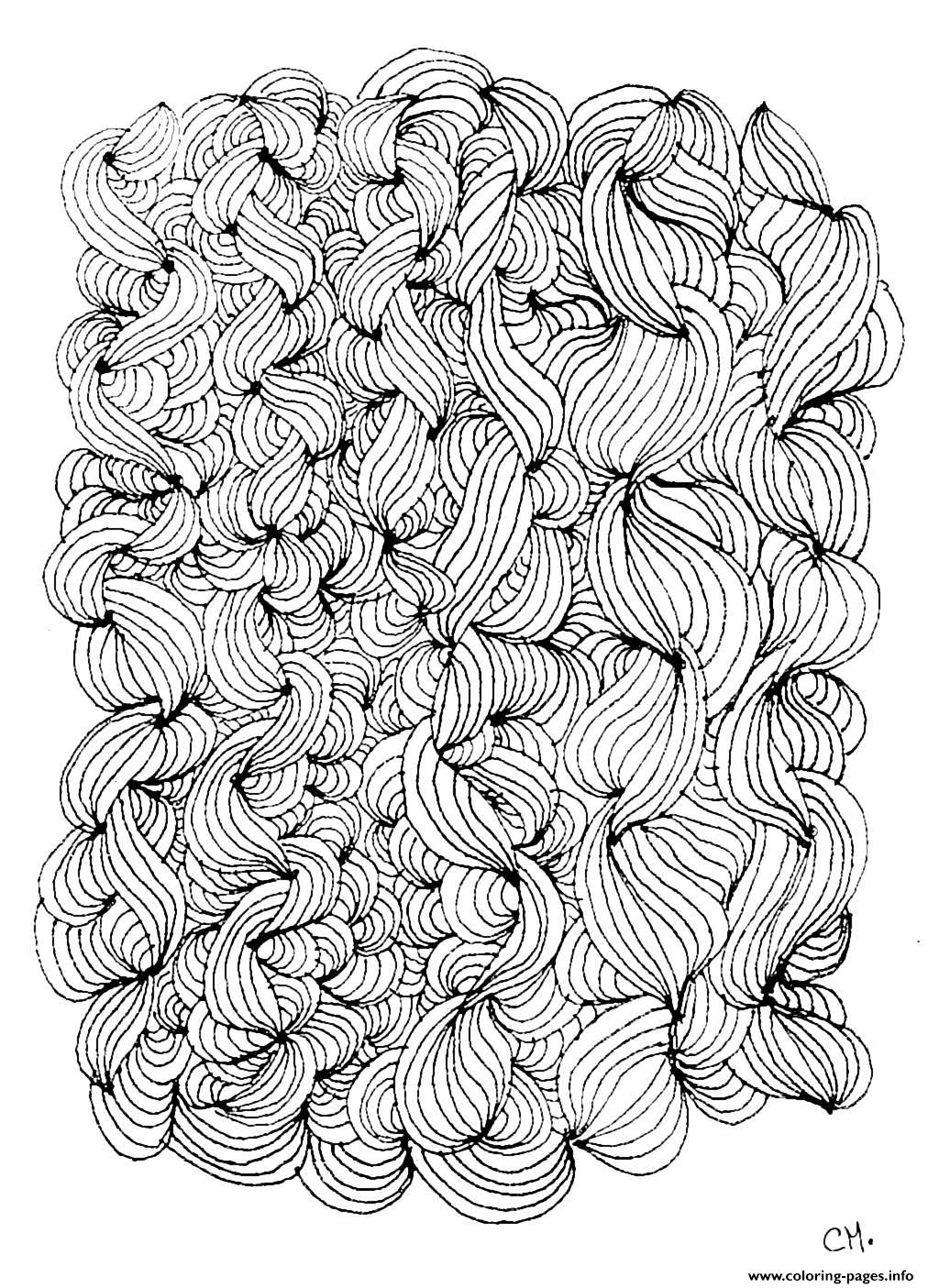 Adult Zentangle By Cathym 3 coloring pages