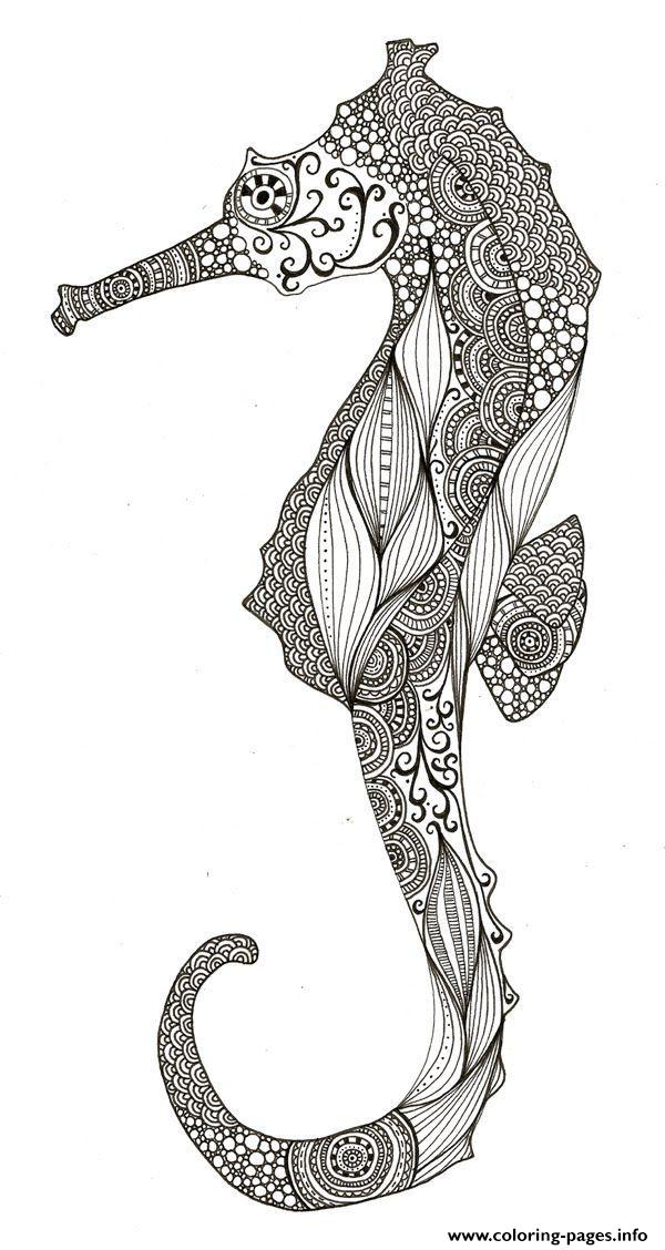 Adult Ocean Zentangle Anti Stress coloring pages