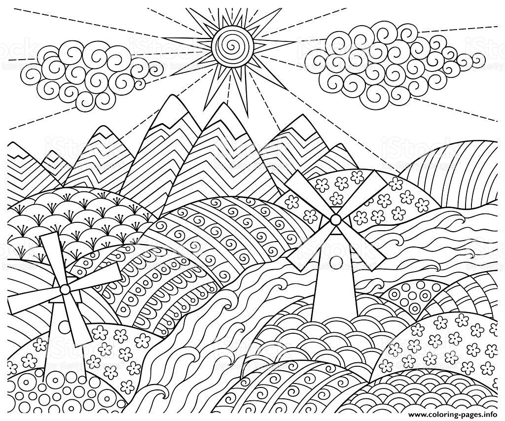 Doodle Pattern Fun World coloring pages