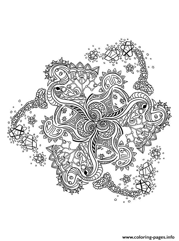 Mandala Pattern Adult Anti Stress coloring pages