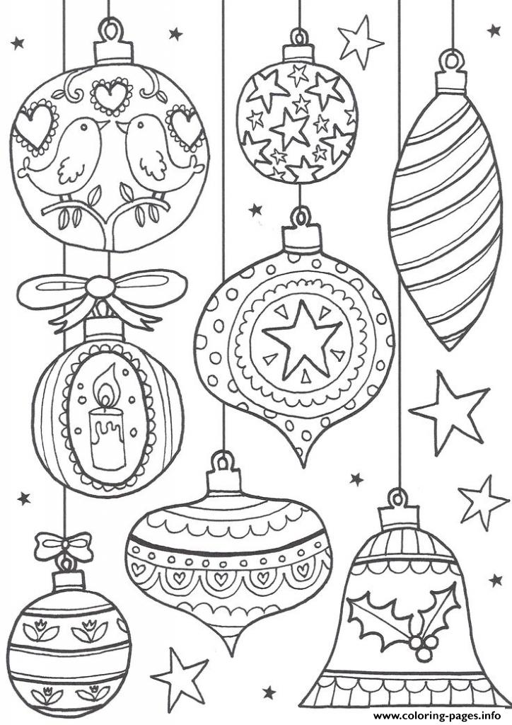 Christmas Adult Ball Bells coloring pages