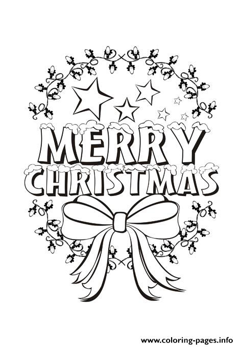 Beautiful Merry Christmas For Kids Coloring Pages Printable
