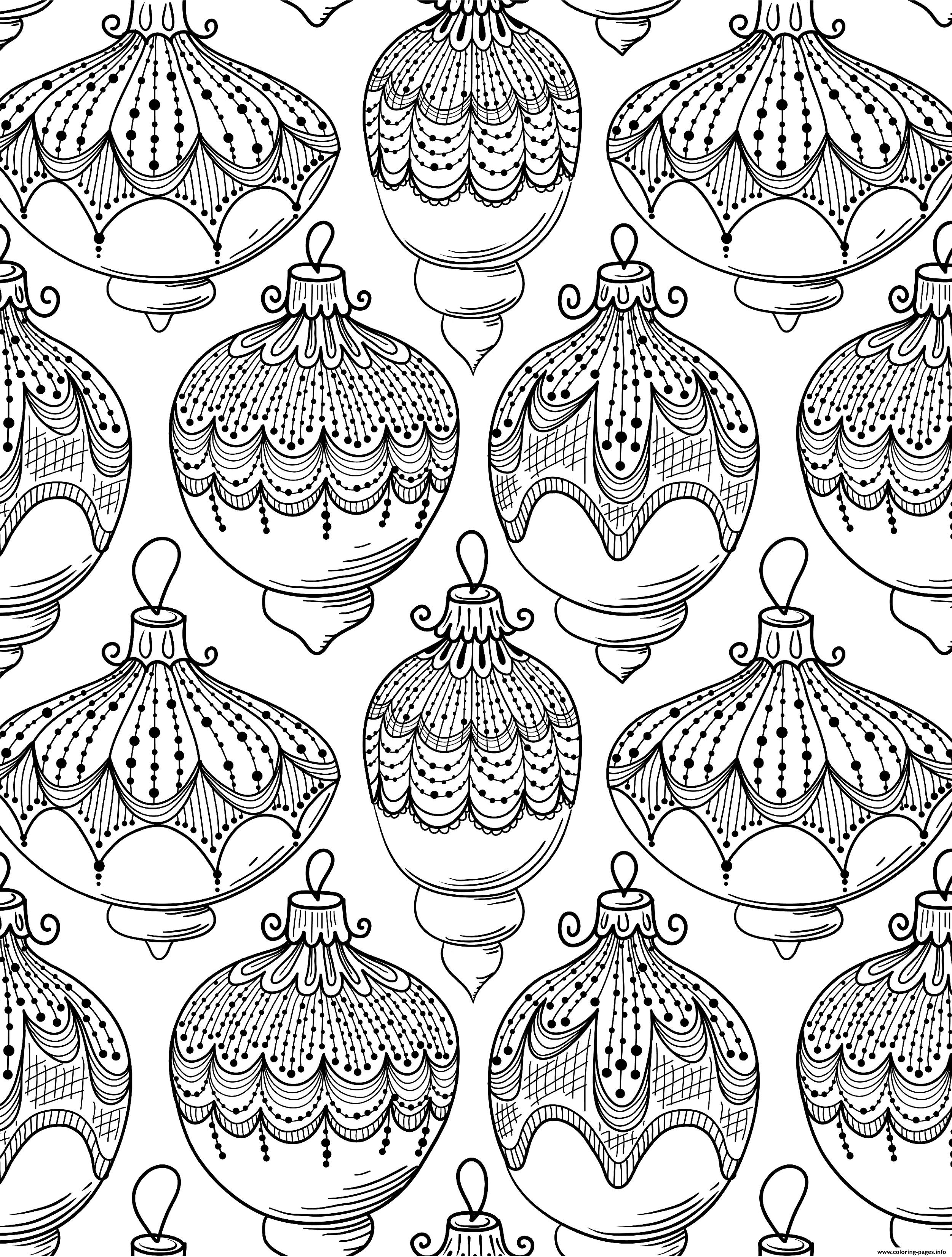 Christmas Adult Ball Adult Coloring