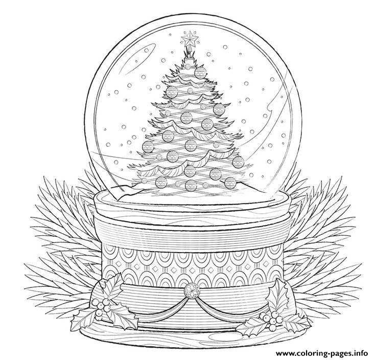 Christmas Cake Tree Swno Merry Christmas Adult Coloring