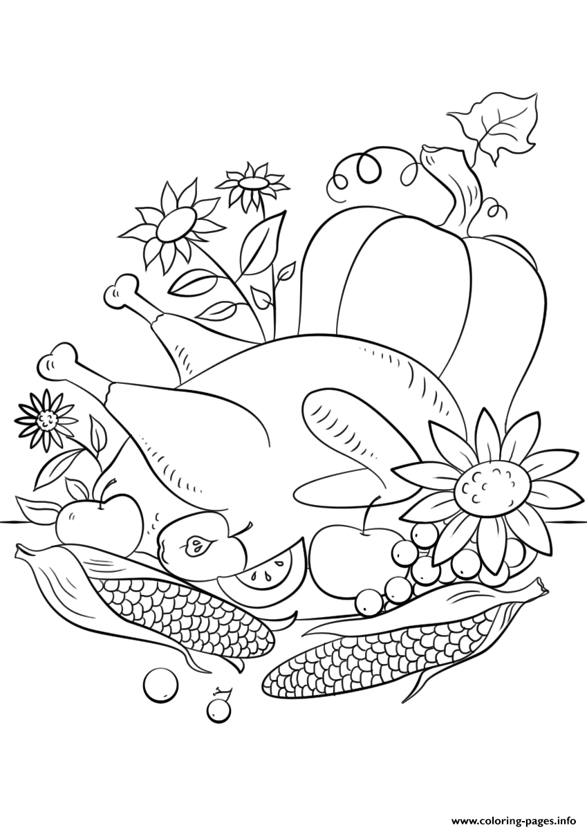 Thanksgiving Food Coloring Pages Print Download 9 Prints