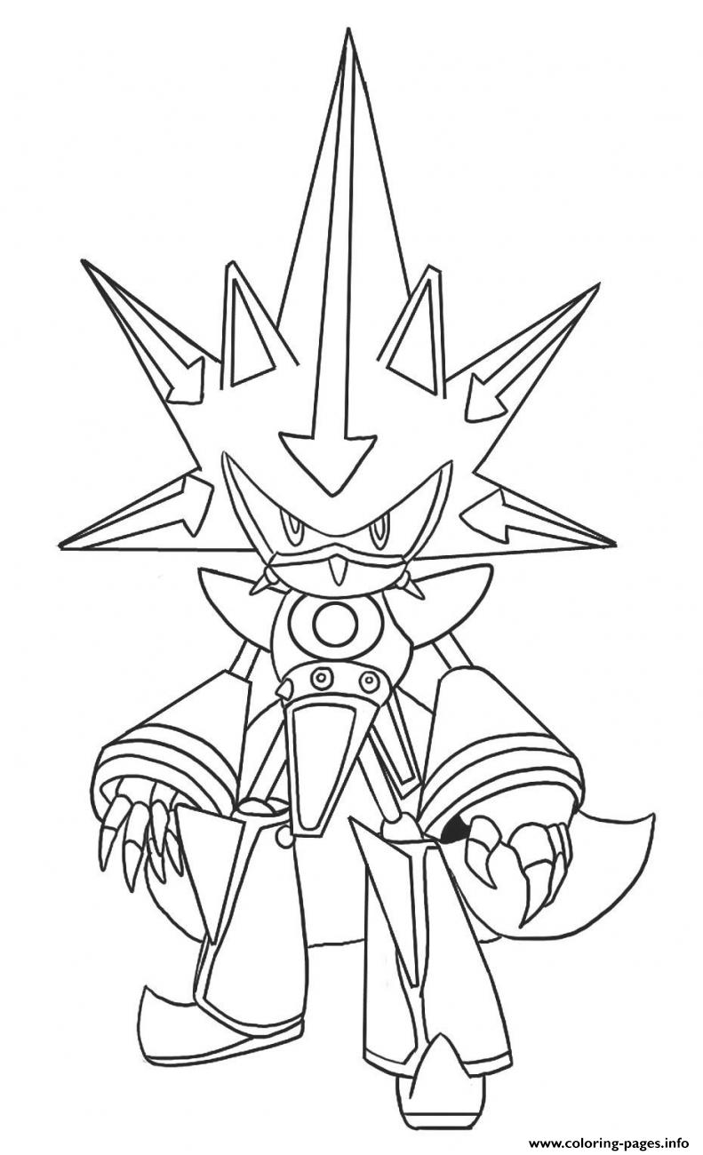Metal Classic Sonic Coloring Pages Printable