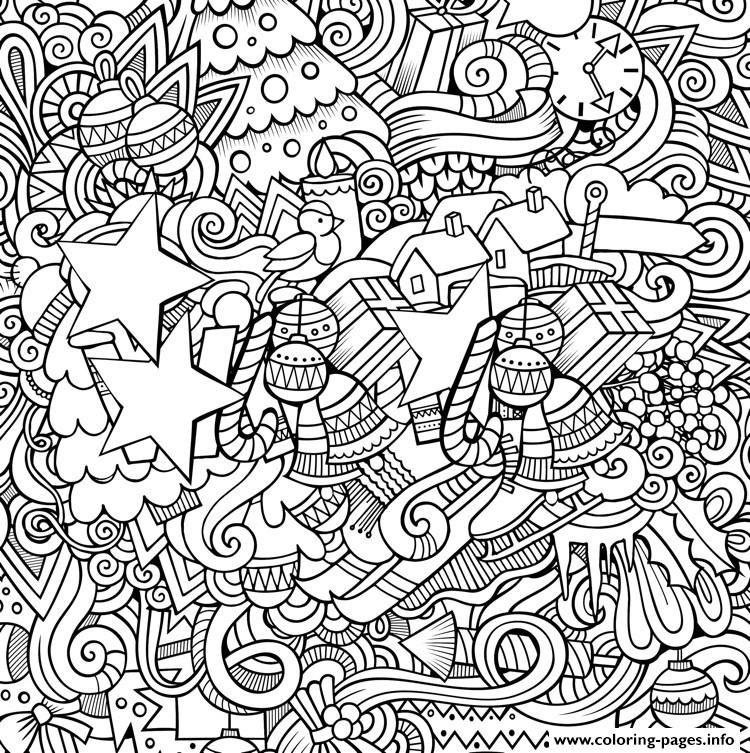 Christmas Designs Artists Coloring Pages Printable