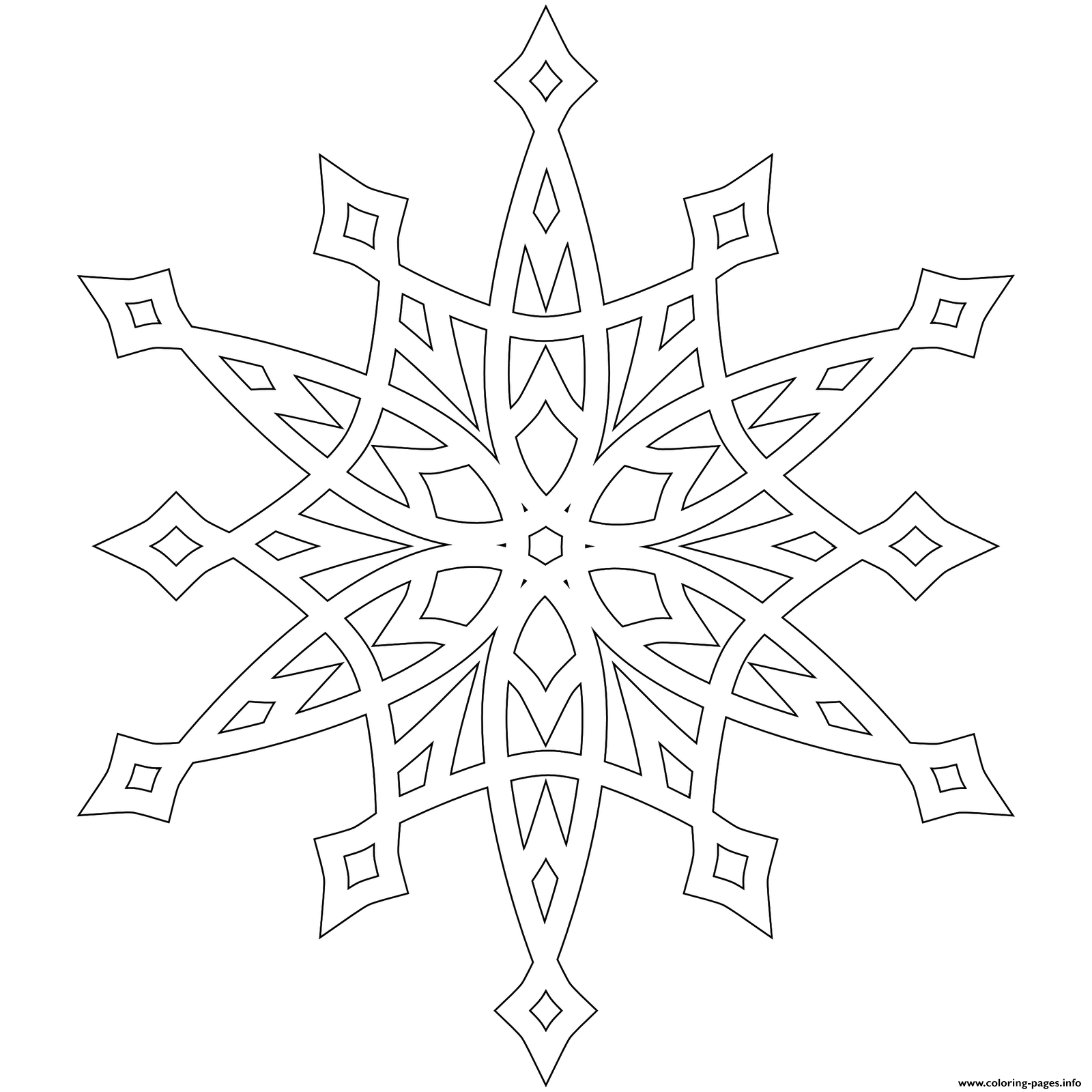Snowflake Patterns Mandala Coloring Pages Printable