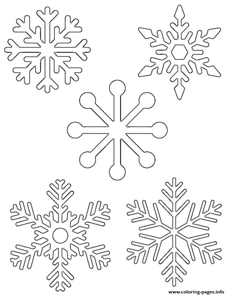 Easy Snowflake For Kids coloring pages