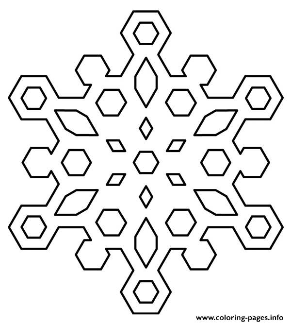 Diamond Snowflakes coloring pages