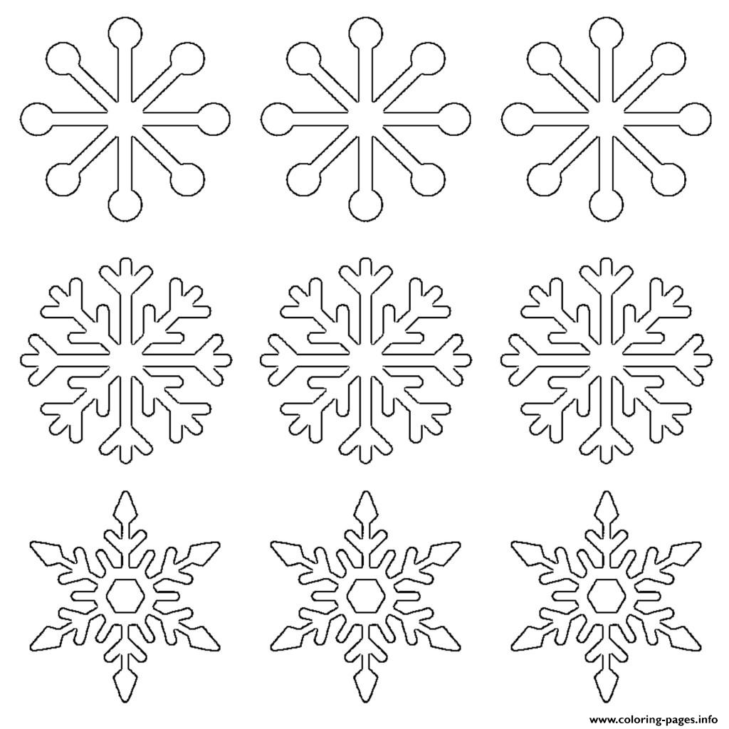 Snowflake Templates Large Small Stencil coloring pages