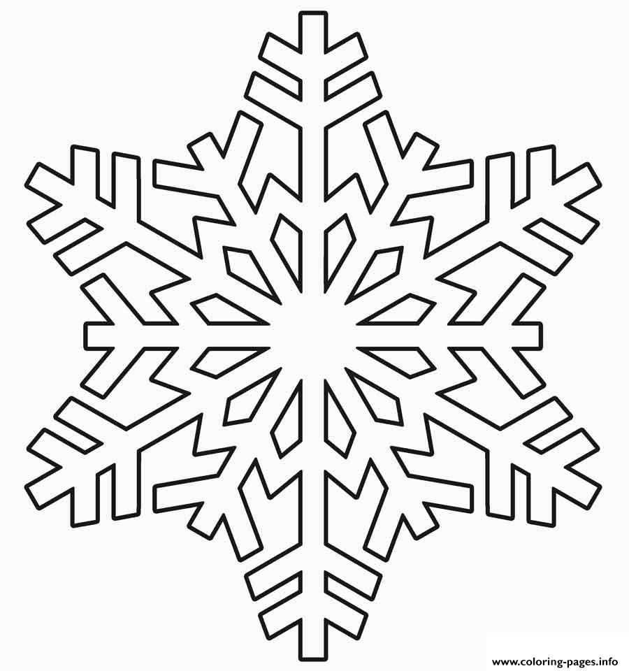 Snowflake Realistic Winter coloring pages