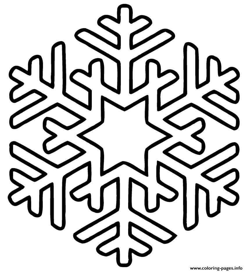 Snowflakes Simple Star Coloring Pages Printable