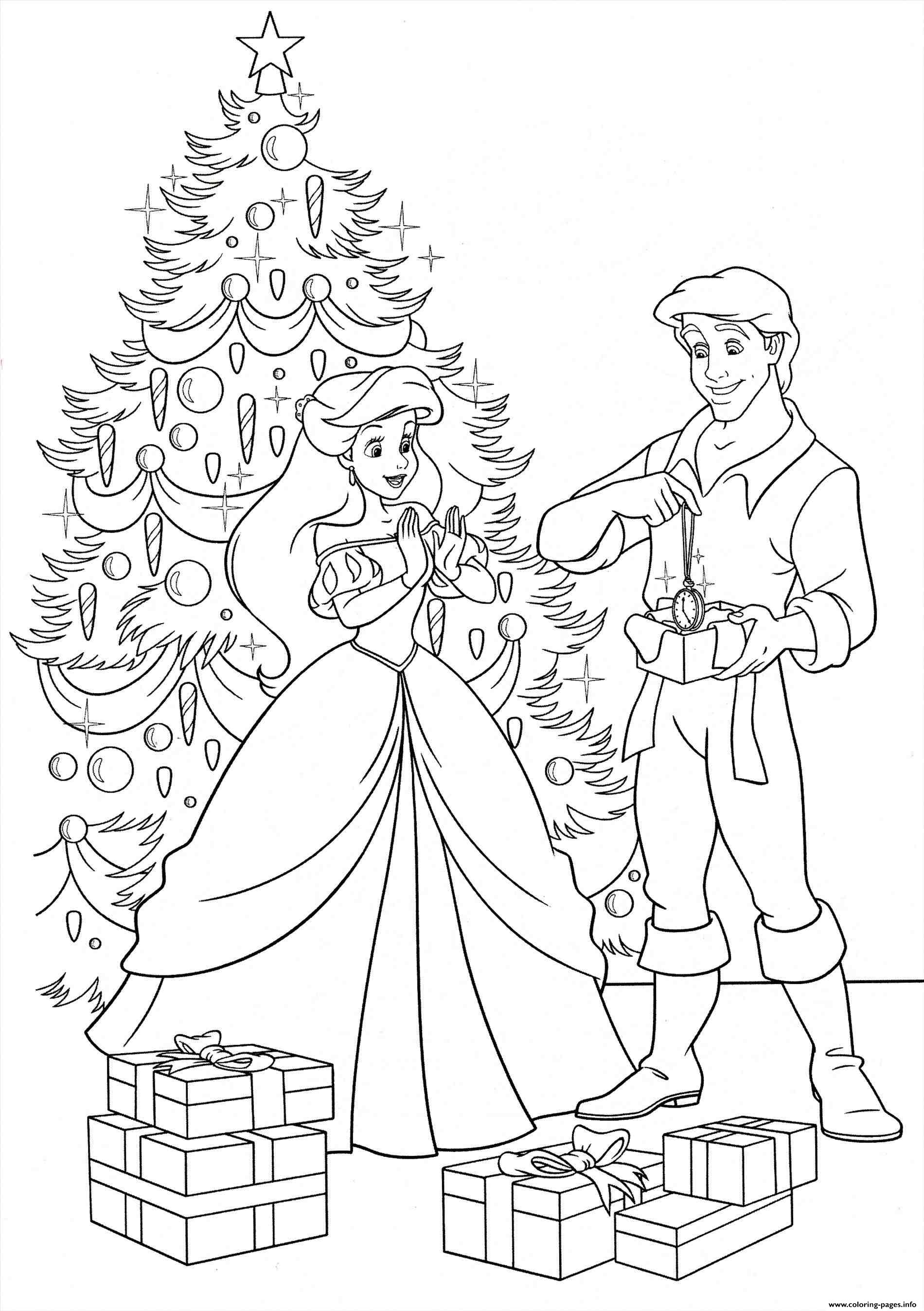- Disney Princess Christmas Gifts Coloring Pages Printable