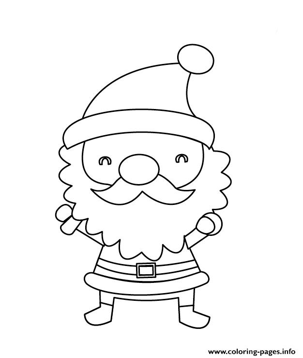 Cute Small Santa Claus Christmas coloring pages
