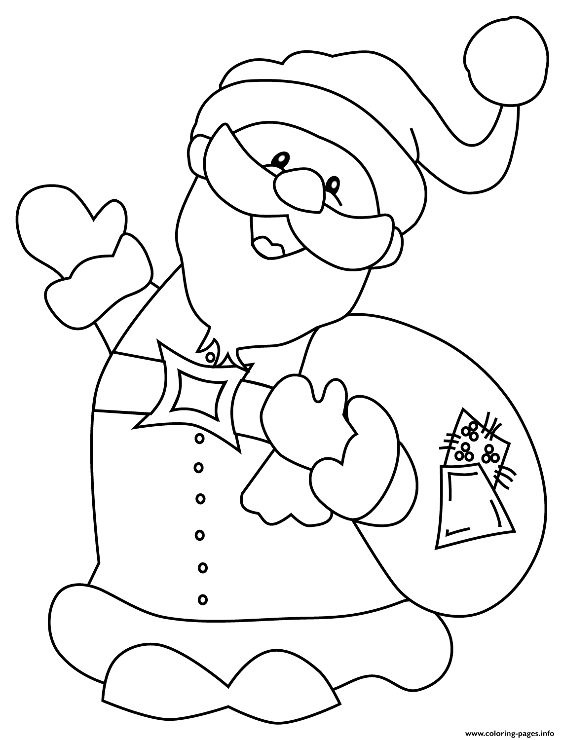 Happy Santa Claus Christmas coloring pages