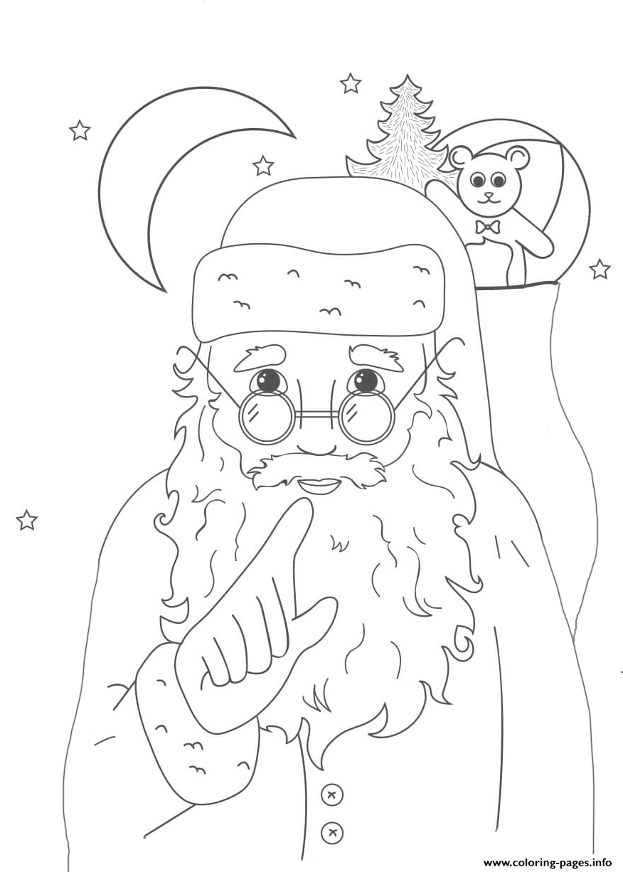 Whispering Santa Christmas coloring pages