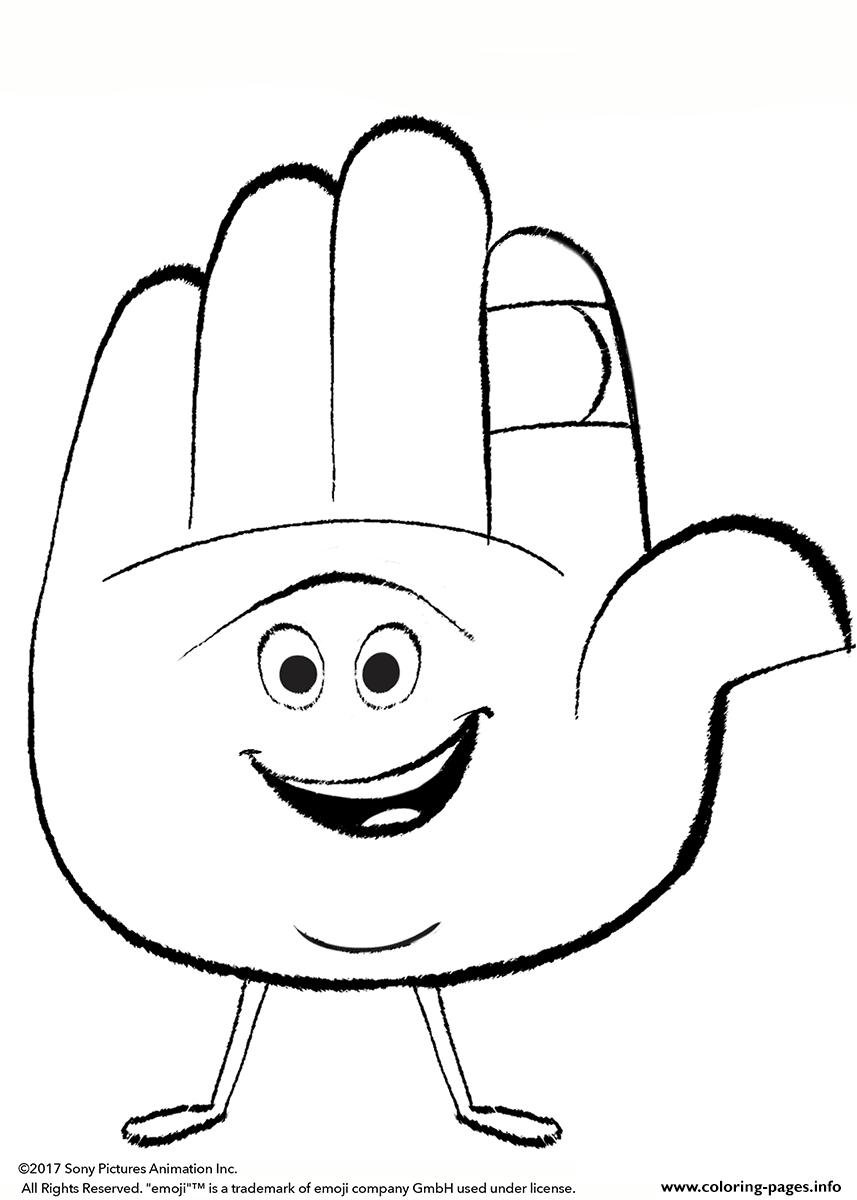 Emoji Movie Hi 11 Coloring Pages Printable